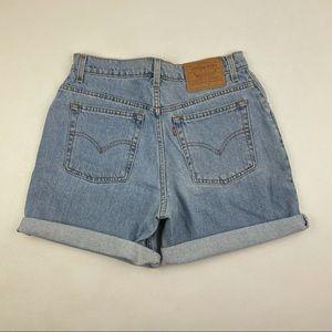 Vintage Levi's 512 High Waist Jean Shorts